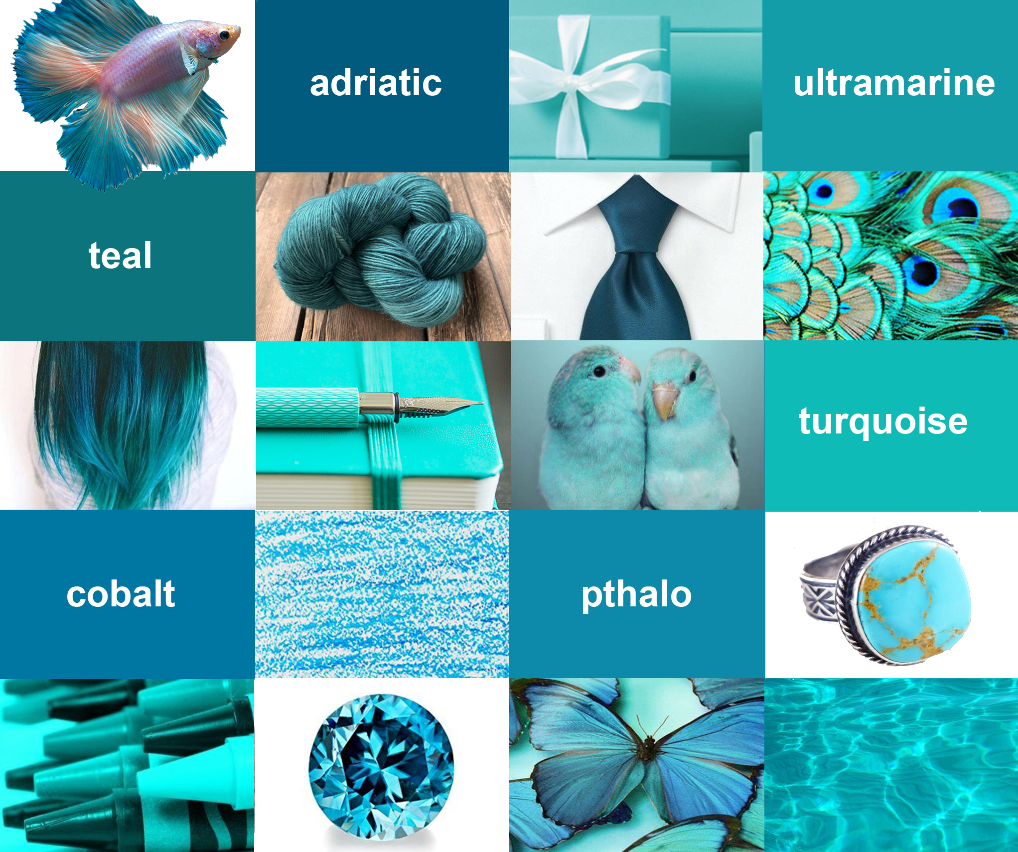 Exploring Turquoise Teal University Art